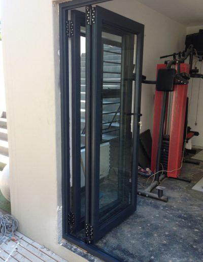 Alucity Charcoal Folding Doors