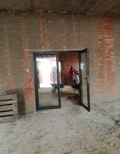 Alucity Entrance Door Double Hinged Full Glass Door