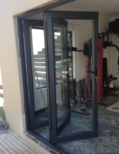 Alucity Charcoal Stack Doors